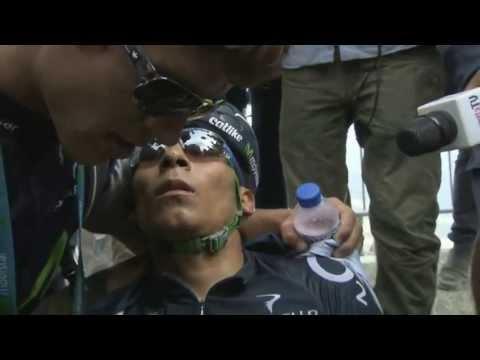 Impresionante desmayo de Nairo Quintana en el Tour de Francia