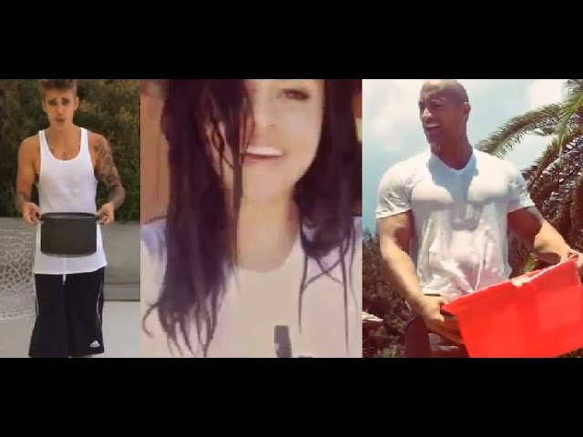 ALS Ice Bucket Challenge - Celebrities (Justin Bieber, Selena Gomez, C. Ronaldo, Oprah, The Rock..)
