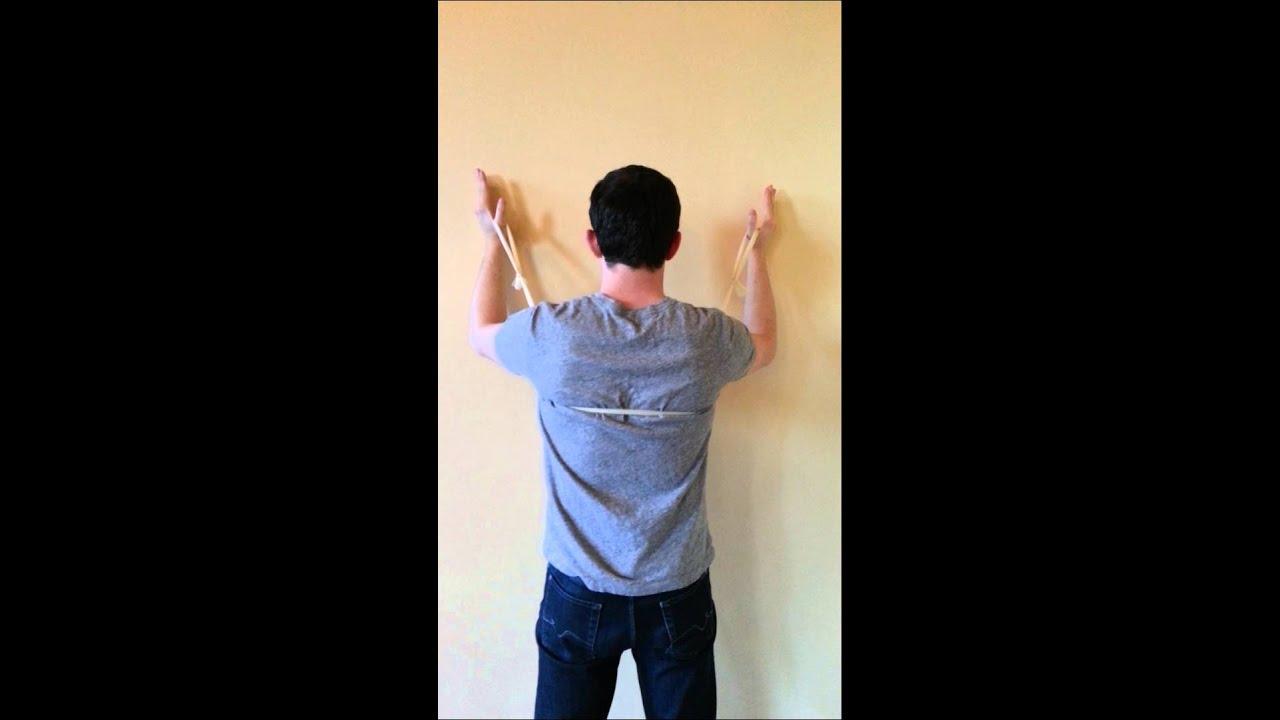 Wall slides for serratus anterior - YouTube