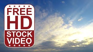 FREE HD video backgrounds – GoPro Hero 4 free raw footage sky with grey puffy clouds time lapse