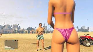 GTA 5 Funny/Brutal Kill Compilation Vol.54 (FPS/Bullpup Shotgun/Forest/Beach/LS)