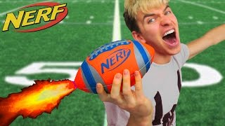 NERF FOOTBALL!! (ROCKET MOD)