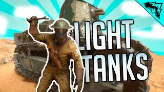 FEATHER TANK'S STING - Battlefield 1 Light Tank (Howitzer & Flanker) Multiplayer Gameplay LIVE