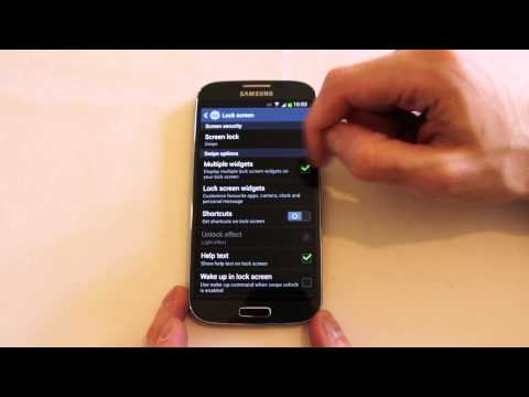 Galaxy S4 lock screen options and customisation