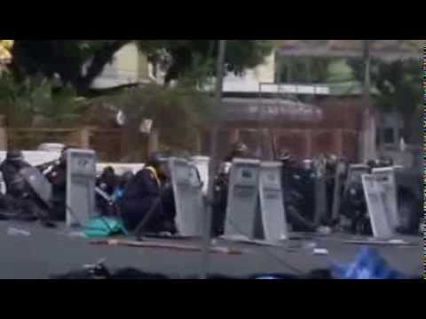 Bangkok  Thai riot police clash with protesters — video   World news   theguardian com