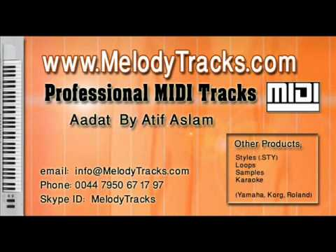 Aadat by Atif Aslam MIDI - www.MelodyTracks.com