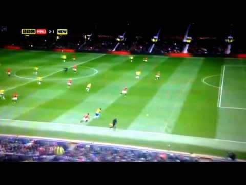 Newcastle 1-0 Manchester United - Yohan Cabaye Goal MOTD