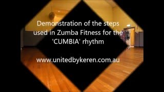 Cumbia Steps Demonstration to music