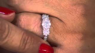 3-Stone Cluster Design Diamond Ring, 14K Gold 1.00 cttw by Affinity with Antonella Nester