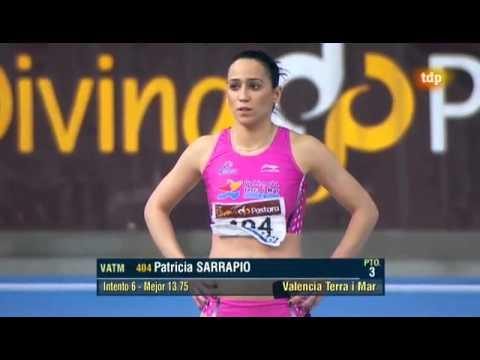 Triple salto femenino Campeonato de España 2012 de Pista Cubierta