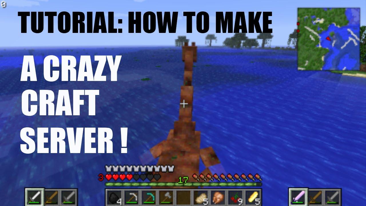 Tutorial how to make a crazy craft server youtube for Crazy craft free download