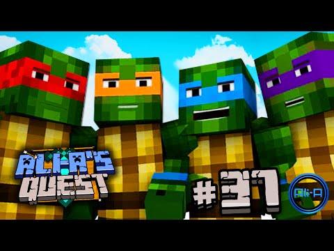 Minecraft - Ali-a's Quest #37 - teenage Mutant Ninja Turtles! video