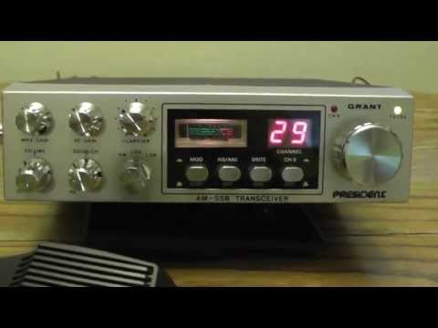 Vintage Grant President 40 Channel Mobile CB Radio with accessories
