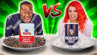 SALT VS PEPPER FOOD CHALLENGE