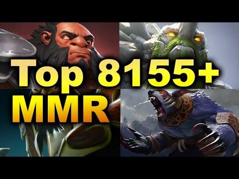 Highest 8155 Average MMR Ever Game - 5 Melee Dota 2