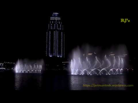 Dubai Fountain At Dubai Mall video