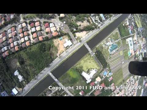 Siam UAV Flight on Taweewattana Watergate ปตร.ทวีวัฒนา 27/10/2011