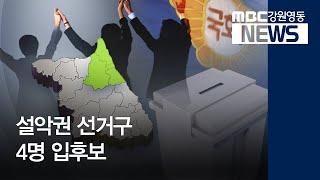 R) 설악권 선거구 4명 입후보