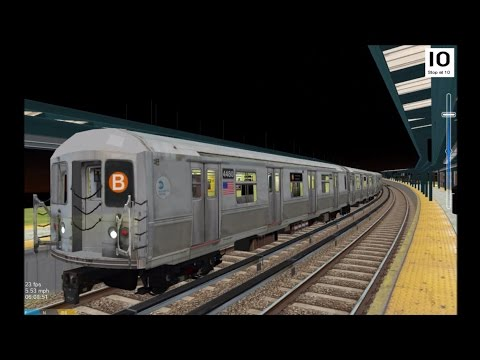 OpenBVE HD: NYC Subway R40M B Train w/ New SMEE Trucks Operating on the BMT Brighton Line
