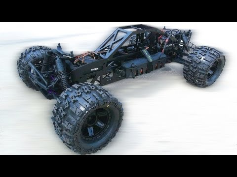 RC ADVENTURES - SAVAGE FLUX HP - TCS 4WD BAJA 1/5 Conversion Kit - 1st Run. 4S Lipo Testing