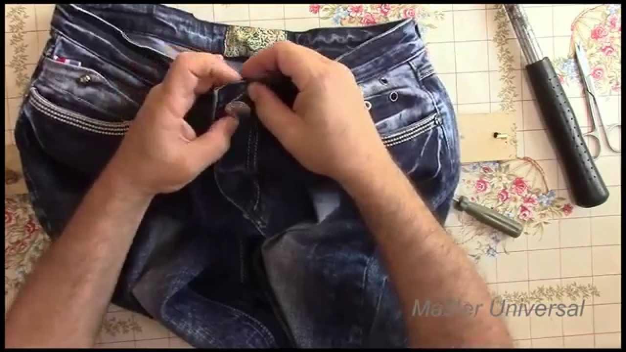 Ремонт пуговицы на джинсах своими руками 82