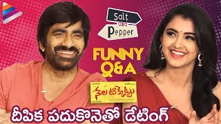 Ravi Teja Reveals Crush on Deepika Padukone | Salt and Pepper Funny Interview | Nela Ticket Movie