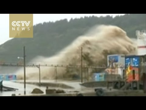 Year's strongest storm batters Taiwan