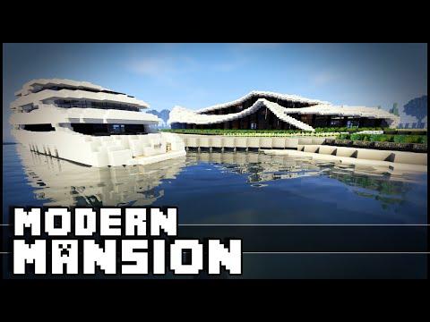 Minecraft - Modern Organic Mansion & Yacht!