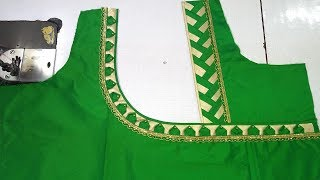 Easy blouse designing at home Womens fashion blouses latest design of ladies blouses