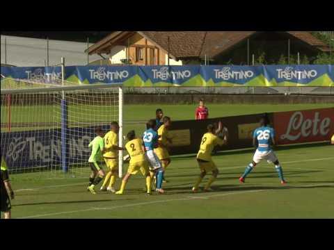 Napoli-Anaune 10-0. Le immagini  della prima amichevole stagionale degli azzurri