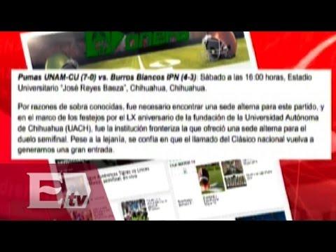 Pumas CU vs Burros Blancos jugarán en Chihuahua / Vianey Esquinca