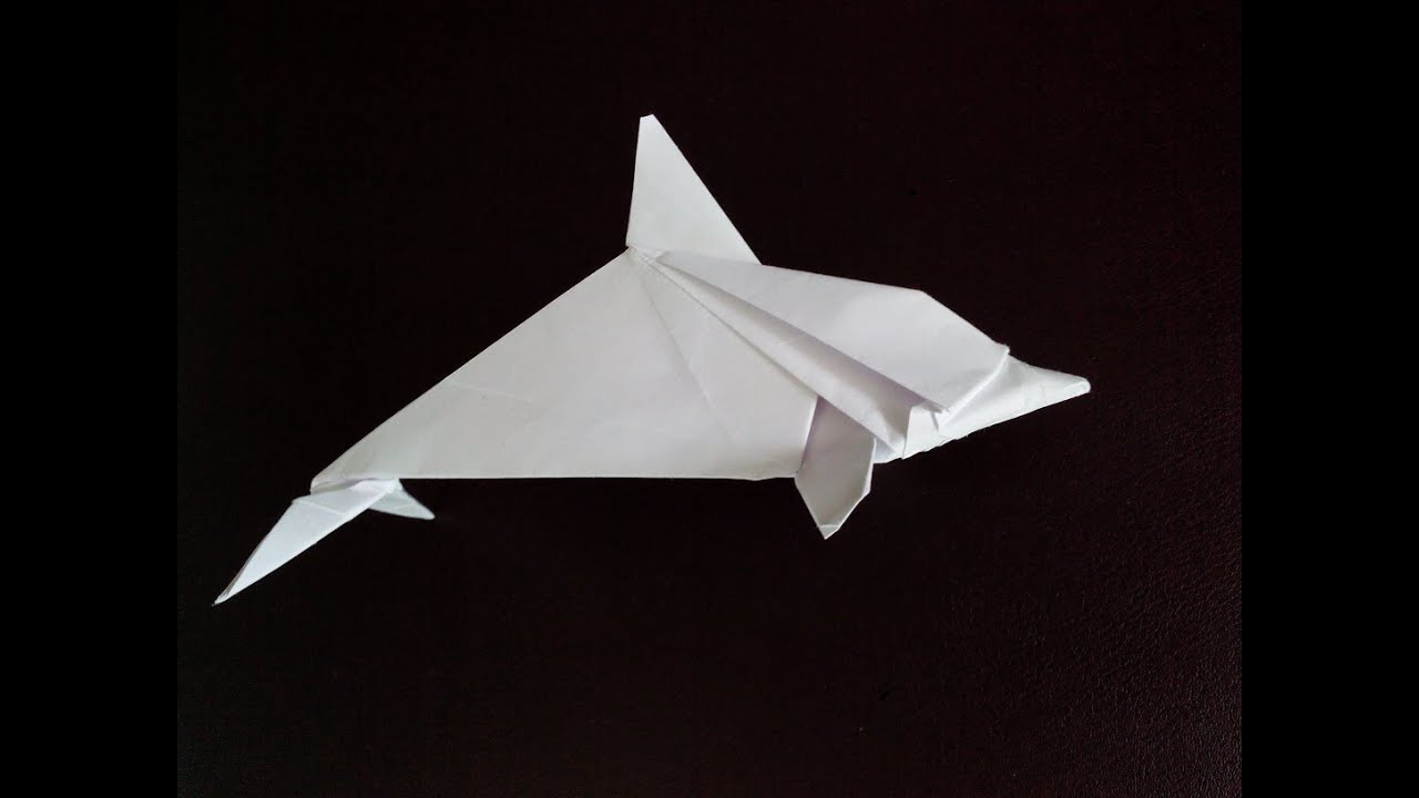 Origami How to fold a Dolphin  origami land