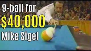 Mike Sigel's historic $40,000 9-ball..3 final matches
