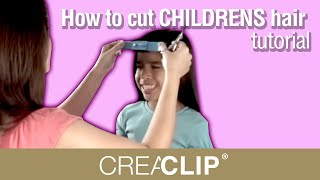 How to cut CHILDRENS hair  tutorial-  Kids Bangs, layers, and one length cuts