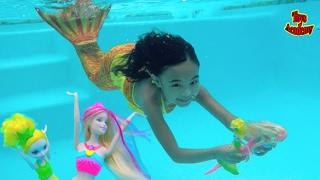 Barbie Rainbow Lights Mermaid Barbie Dreamtopia N Fun Unboxing   Toys Academy