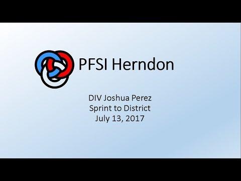 DIV Joshua Perez - Sprint to District - July 13, 2017