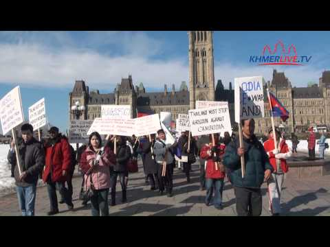 Protest against Thai aggression in Cambodia by Cambodians in Canada on Feb. 18th, 2011