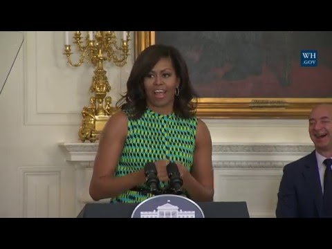 First Lady Michelle Obama and Dr. Biden Host a Joining Forces Employment Event