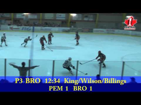 CCHL Highlights Mar 21 2014 Pembroke@Brockville