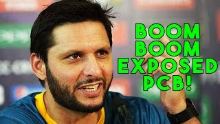 Boom Boom Afridi EXPOSED PCB in fresh statement!!