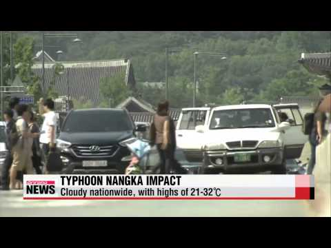 High winds and waves expected as Typhoon Nangka heads north   태풍 북상으로 동해안•남해안 강풍