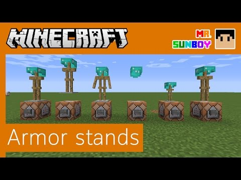 Minecraft Commands [Thai]: วิธีสร้าง Armor Stand หลากหลายรูปแบบ