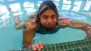 HOW SOMEONE WITH POLIO DOES IT: SWIM!