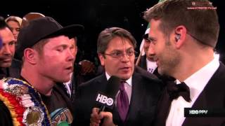 Canelo Alvarez Post Fight Interview
