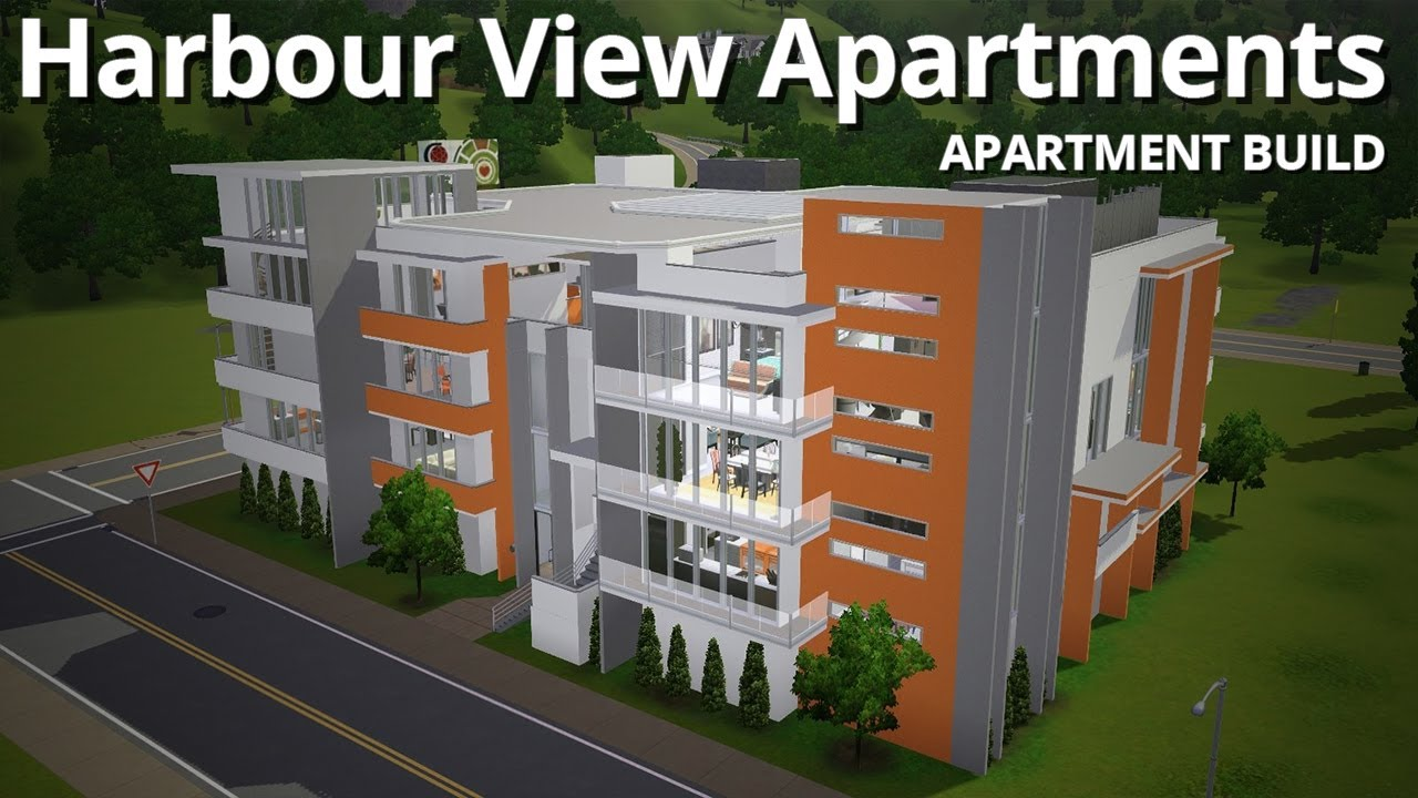 The sims 3 building harbour view apartments w for Appartement design sims 3