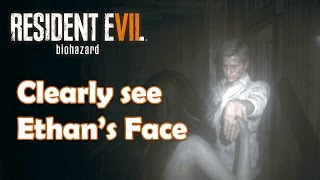 Resident Evil 7 - Ethan's Face ingame (very clear)