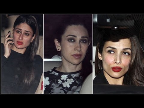 Kareena Kapoor Khan, Karisma Kapoor, Malaika Arora Khan at Karan Johar's party