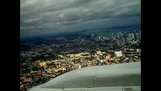 Landing in Miami from caracas