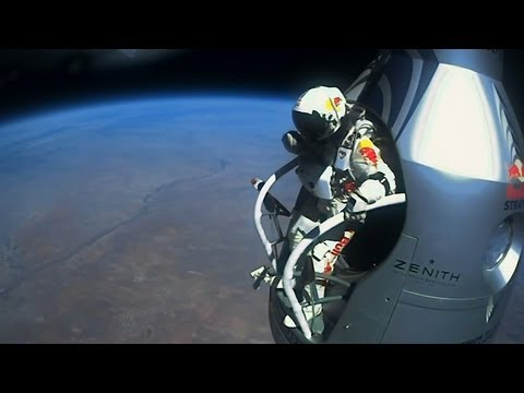 Felix - Red Bull Stratos Baumgartner worldrecord freefall Jump 128k ft-Edge of space HD Full version