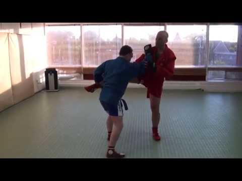 Combat Sambo instructional - Achilles leg lock from standing (variation) Image 1